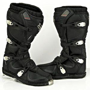 Fox Racing Motorcycle Motocross Men Leather Boots.